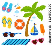 beach summer vacation design... | Shutterstock .eps vector #1124502620