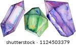 colorful diamond rock jewelry...   Shutterstock . vector #1124503379