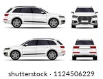 realistic suv car. front view ... | Shutterstock .eps vector #1124506229