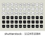 doodle set of various icon... | Shutterstock .eps vector #112451084