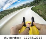 point of view photo of a man... | Shutterstock . vector #1124512316