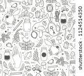 sketch vector graphic seamless... | Shutterstock .eps vector #1124514350