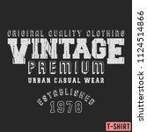 vintage premium t shirt stamp....   Shutterstock .eps vector #1124514866
