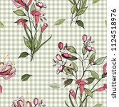 trendy floral pattern. isolated ... | Shutterstock .eps vector #1124518976