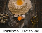 food  cooking and baking... | Shutterstock . vector #1124522000