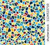 abstract mosaic sheet seamless... | Shutterstock .eps vector #1124523710