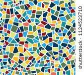 abstract mosaic sheet seamless... | Shutterstock .eps vector #1124523710