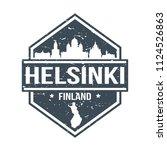 helsinki finland travel stamp... | Shutterstock .eps vector #1124526863