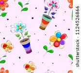 children's seamless banner  on...   Shutterstock .eps vector #1124526866