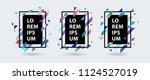 gradient banners set with... | Shutterstock .eps vector #1124527019