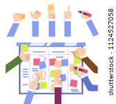 scrum task board concept with...   Shutterstock .eps vector #1124527058