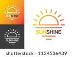 vector sun shine logotype set... | Shutterstock .eps vector #1124536439