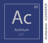 actinium ac chemical element... | Shutterstock .eps vector #1124542919