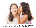 portrait of two little girls...   Shutterstock . vector #1124545076