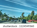 traffic on 101 freeway... | Shutterstock . vector #1124549360