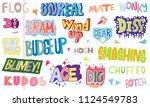 popular english language slang... | Shutterstock .eps vector #1124549783