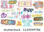 popular english language slang... | Shutterstock .eps vector #1124549786