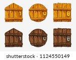 cartoon wooden different shape...