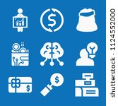 filled set of 9 business icons... | Shutterstock .eps vector #1124552000