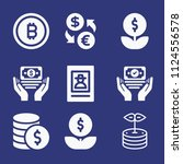 filled money icon set such as...   Shutterstock .eps vector #1124556578