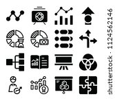 filled statistics icon set such ... | Shutterstock .eps vector #1124562146