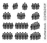 vector image set of people... | Shutterstock .eps vector #1124562419