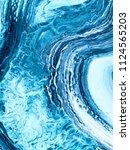 blue creative abstract hand... | Shutterstock . vector #1124565203