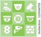 filled security icon set such...   Shutterstock .eps vector #1124566703