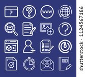 outline interface icon set such ... | Shutterstock .eps vector #1124567186