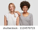 multiethnic friendship concept. ... | Shutterstock . vector #1124570723