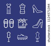 outline fashion icon set such... | Shutterstock .eps vector #1124571344