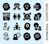 filled set of 16 people icons... | Shutterstock .eps vector #1124572190
