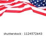 american flag on white... | Shutterstock . vector #1124572643