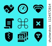set of 9 interface filled icons ... | Shutterstock .eps vector #1124572814