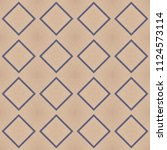 cloth background with geometric ... | Shutterstock . vector #1124573114
