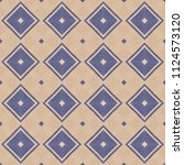 cloth background with geometric ... | Shutterstock . vector #1124573120