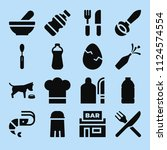 filled food icon set such as... | Shutterstock .eps vector #1124574554