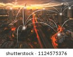 network and connection... | Shutterstock . vector #1124575376