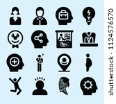 filled set of 16 people icons... | Shutterstock .eps vector #1124576570