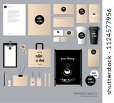 stationery template design with ... | Shutterstock .eps vector #1124577956
