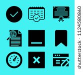 set of 9 interface filled icons ... | Shutterstock .eps vector #1124580860