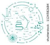 scientific  education elements. ... | Shutterstock .eps vector #1124582684