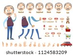 grandfather character... | Shutterstock .eps vector #1124583209