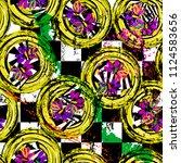 seamless geometric pattern... | Shutterstock .eps vector #1124583656