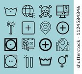 outline signs icon set such as...   Shutterstock .eps vector #1124584346