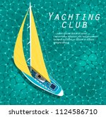 yachting club banner. yachting... | Shutterstock .eps vector #1124586710