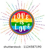 lgbt rights symbol. love is... | Shutterstock .eps vector #1124587190