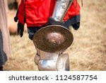 old style knight equipment for... | Shutterstock . vector #1124587754