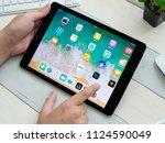 bangkok thailand   apple ipad 9.... | Shutterstock . vector #1124590049