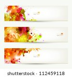 set of three headers. abstract... | Shutterstock .eps vector #112459118